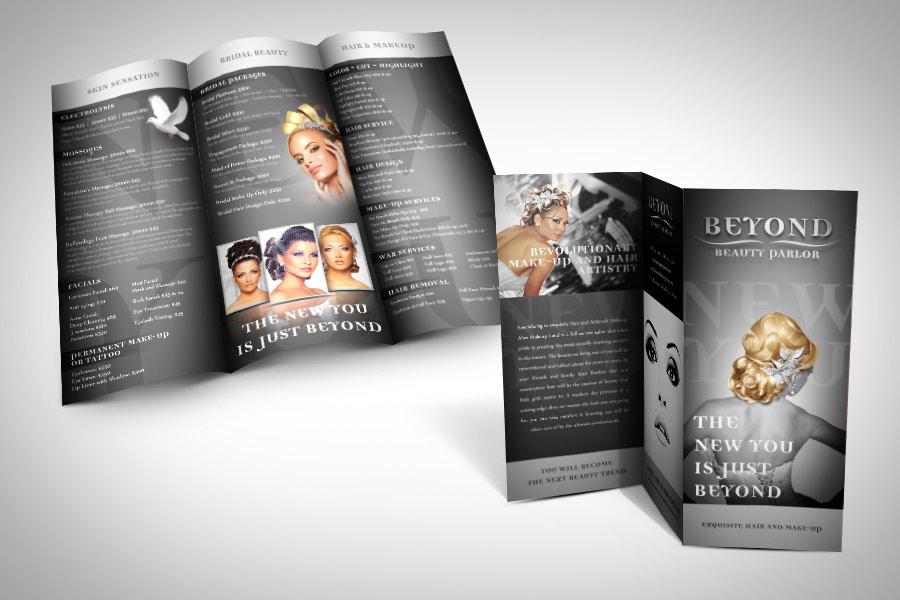Brochure design in Pasadena California – Salon Brochure
