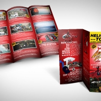 helicopter tour brochure design