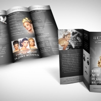 hair and beauty salon brochure design