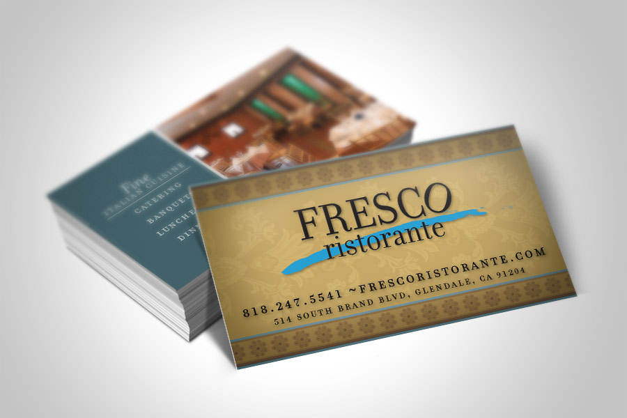 Business card design in pasadena california graphic design italian restaurant business card design colourmoves