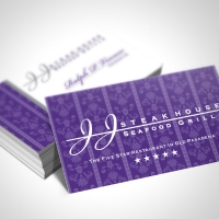 steak house Business Card Design