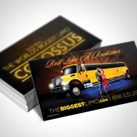biggest limo Business Card Design