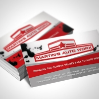 mechanic Business Card Design