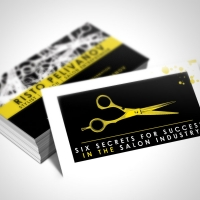 hair salon Business Card Design