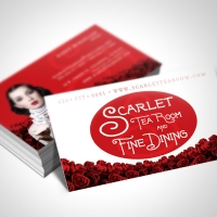 tea room Business Card Design