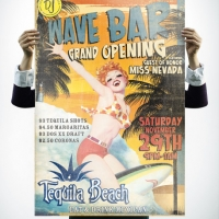 Tequila Beach Bar Poster Design