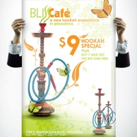 Bliss Cafe Hookah Poster Design