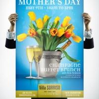 Villa Sorriso Mothers Day Brunch Poster Design