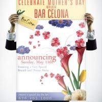 Bar Celona Mothers Day Brunch Poster Design