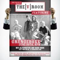 V Room Grunge Box Poster Design