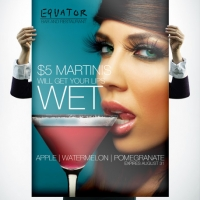 Equator Martini Poster Design