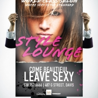 Style Lounge Salon Poster Design