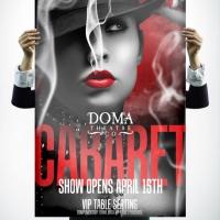 Doma Theatre Cabaret Poster Design