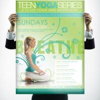 Yoga poster design