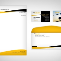 Aviation Business Card Design
