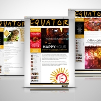 Equator Asian Restaurant website design