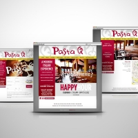Pastaq Italian Restaurant website design