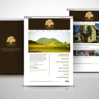 Campovida winery resort website design